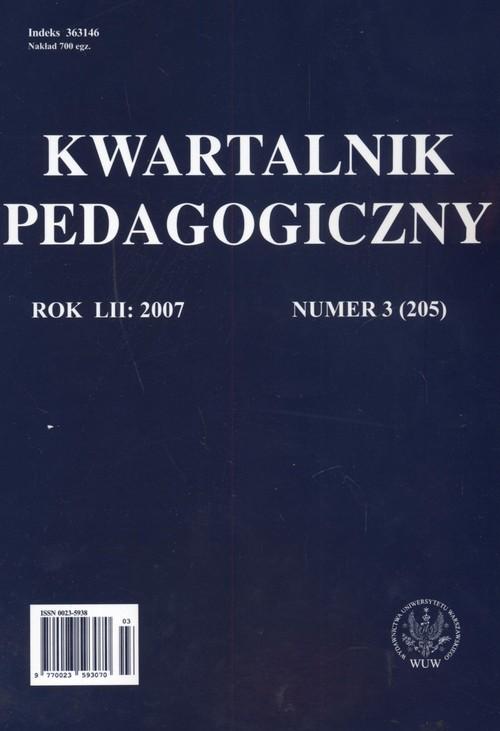 Kwartalnik pedagogiczny nr 3 2007 - brak