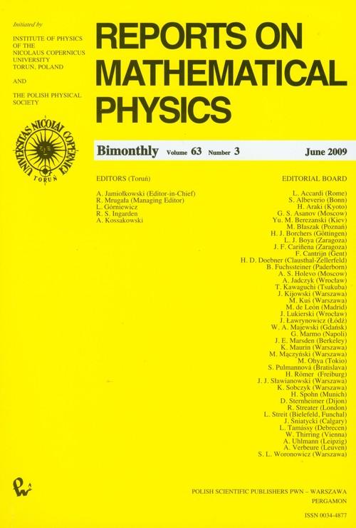 Reports on Mathematical Physics 63/3 2009 Kraj - brak