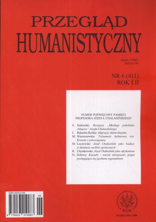 Przegląd humanistyczny 6/2008 - brak