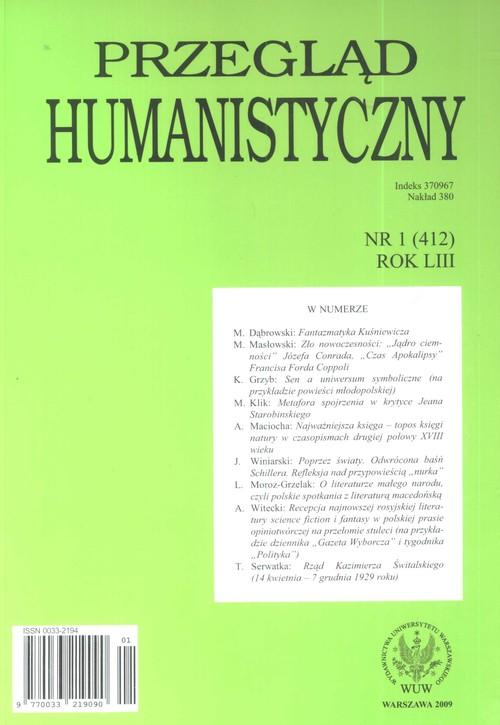Przegląd humanistyczny 1/2009 - brak