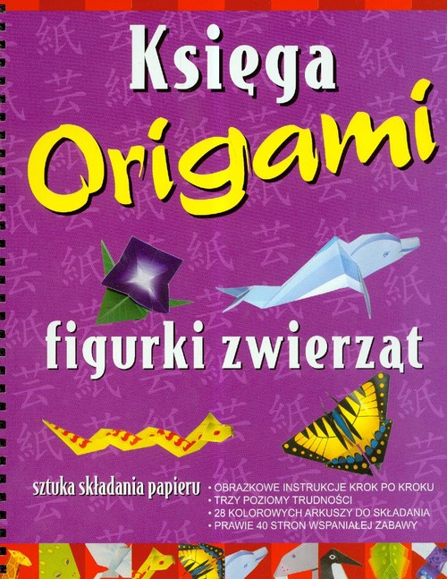 Figurki zwierząt Księga origami - brak
