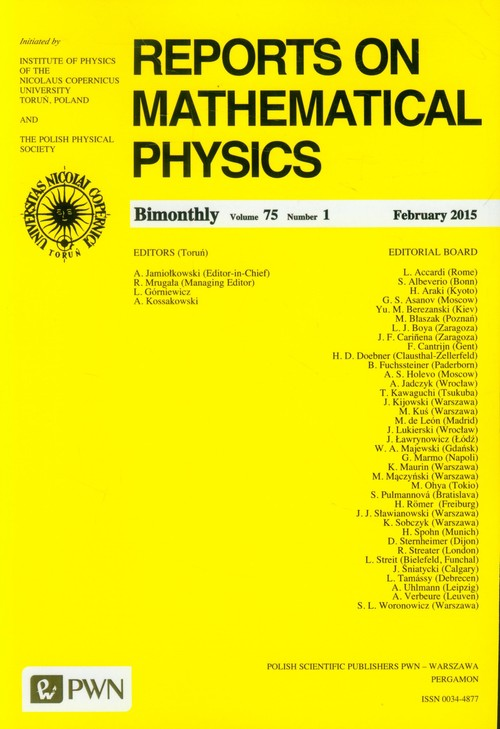 Reports on Mathematical Physics 75/1 2015 kraj - brak