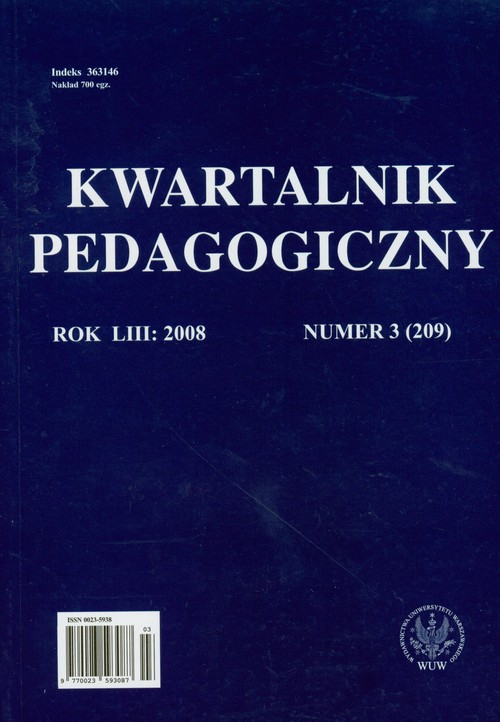 Kwartalnik pedagogiczny numer 3/2008 - brak