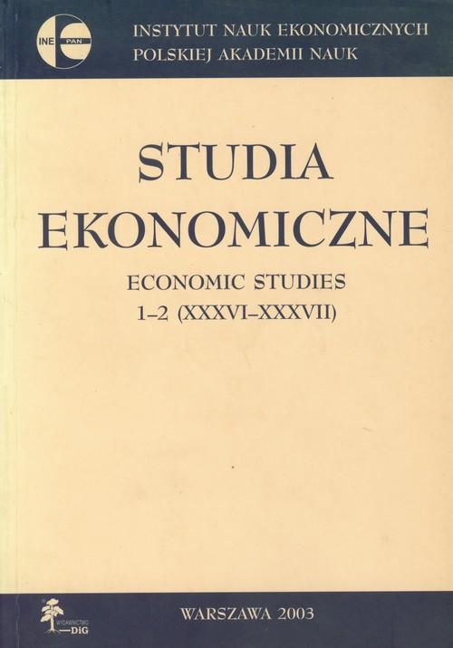 Studia ekonomiczne Economic studies 1-2 - brak