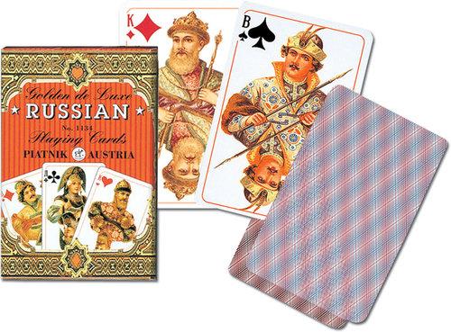 Karty do gry Piatnik 1 talia, Rosyjskie - złote - brak