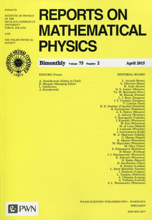 Reports on Mathematical Physics 75/2 2015 Kraj - brak