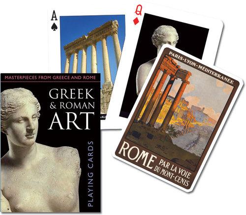 Karty do gry Piatnik 1 talia Sztuka greków i rzymian - brak