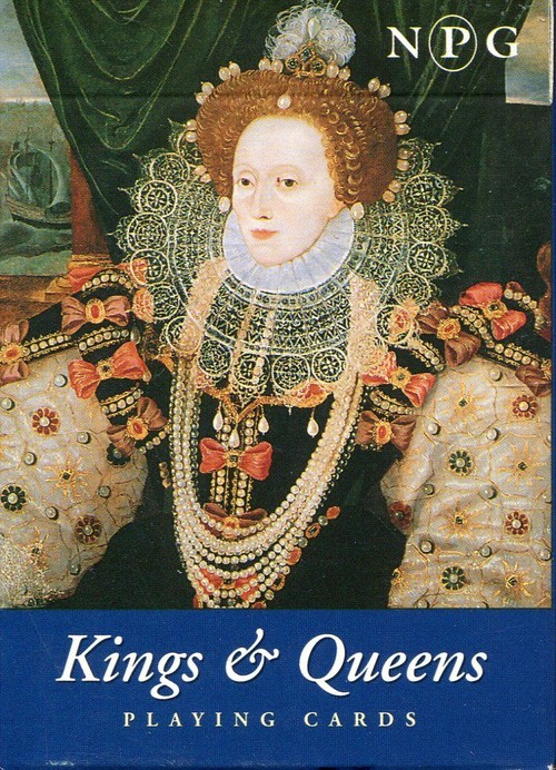 Karty do gry Piatnik 1 talia Brytyjscy królowie - brak