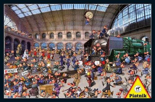 Puzzle Piatnik Ruyer Stacja kolejowa 1000 - Piatnik