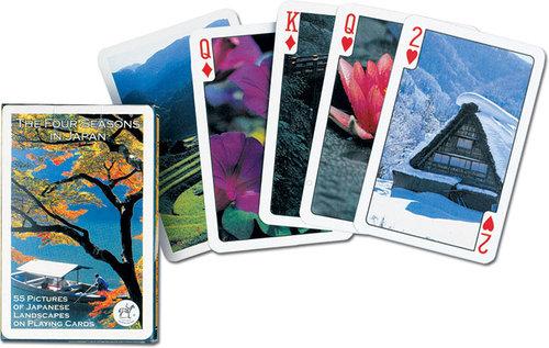 Karty do gry Piatnik 1 talia Cztery pory roku Japonii - brak