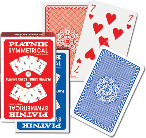 Karty do gry Piatnik 1 talia Symetryczne - brak