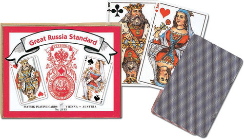 Karty do gry Piatnik 2 talie Rosyjskie Standardowe - Piatnik