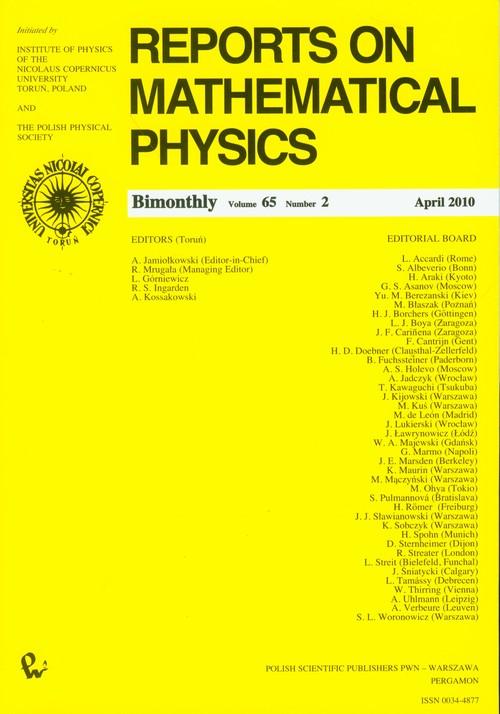 Reports on Mathematical Physics 65/2 - brak