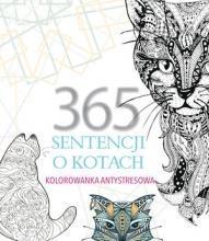 365 sentencji o kotach. Kolorowanka antystresowa - El