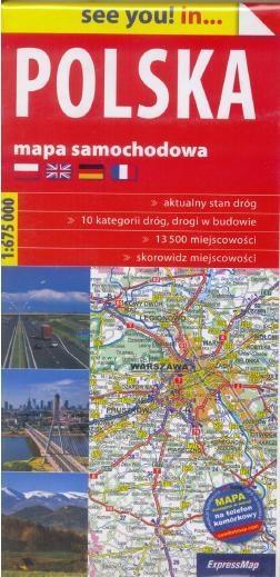 See you!in... Polska 1:675 000 mapa - praca zbiorowa
