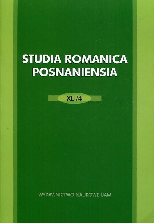 Studia Romanica Posnaniensia XLI/4 - brak