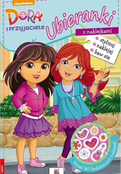 Ubieranki z naklejkami. Dora i przyjaciele - praca zbiorowa