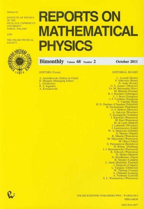 Reports on Mathematical Physics 68/2 Kraj - brak