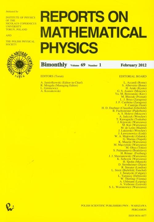 Reports on Mathematical Physics 69/1 - brak
