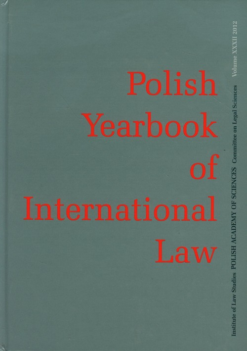 POLISH YEARBOOK OF INTERNATIONAL LAW TOM XXXIV - brak