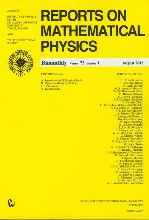 Reports on Mathematical Physics 55/1 - brak