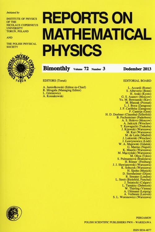 Reports on Mathematical Physics 72/3 - brak