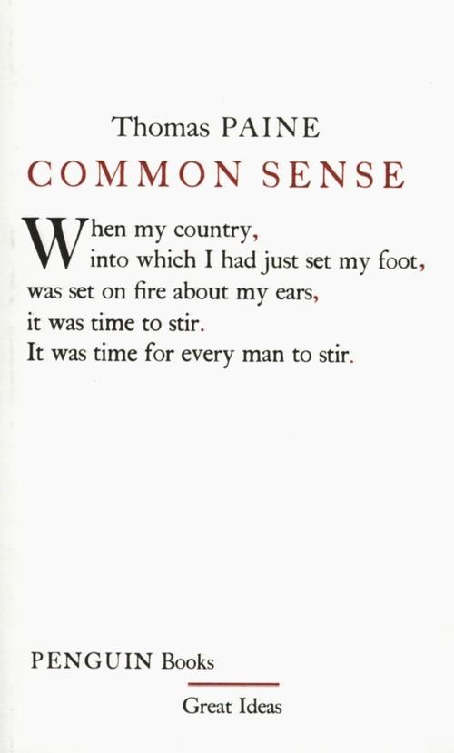 Common Sense - Paine Thomas